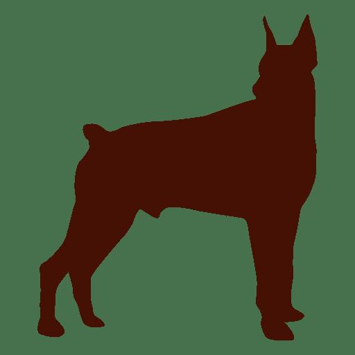 Perro silueta mascota