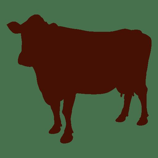 Farm cow silhouette Transparent PNG