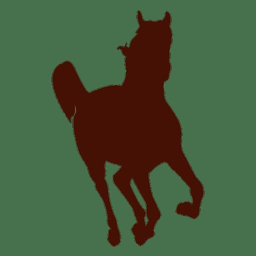 Silueta de caballo de granja Transparent PNG