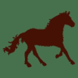 Caballo de granja corriendo silueta