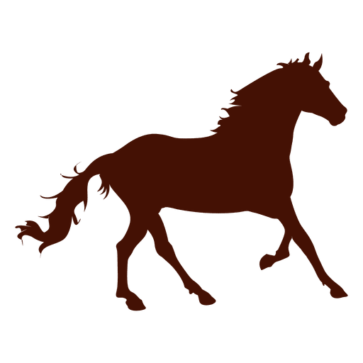 Farm horse running silhouette Transparent PNG