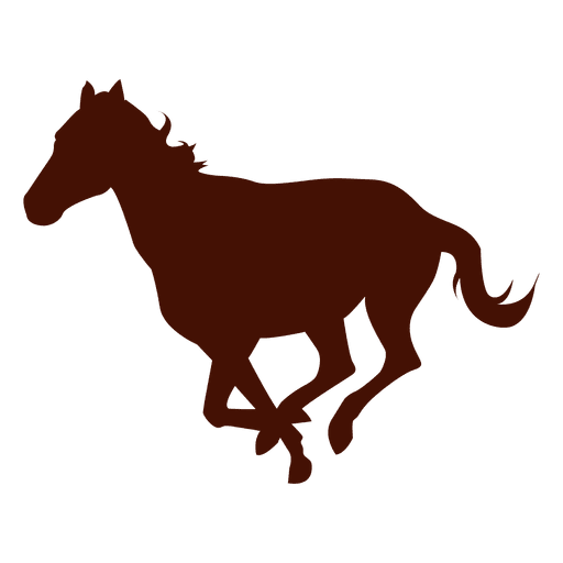 Running farm horse silhouette Transparent PNG
