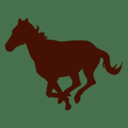 Silueta de caballo de granja corriendo Transparent PNG