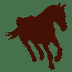 Cavalo de silhueta de fazenda