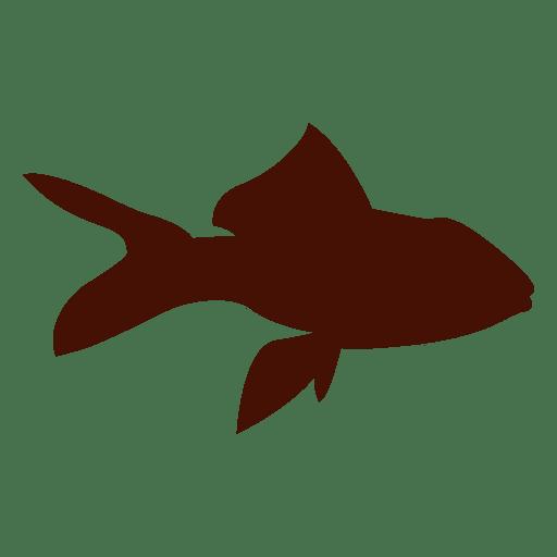 Silueta de mascota pez