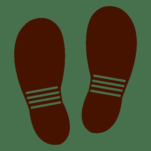 Flip flops footprints Transparent PNG