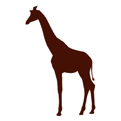 Giraffe silhouette in red Transparent PNG