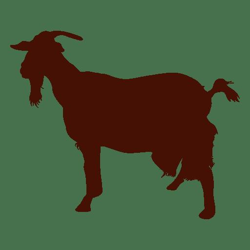 Silueta de granja de cabras