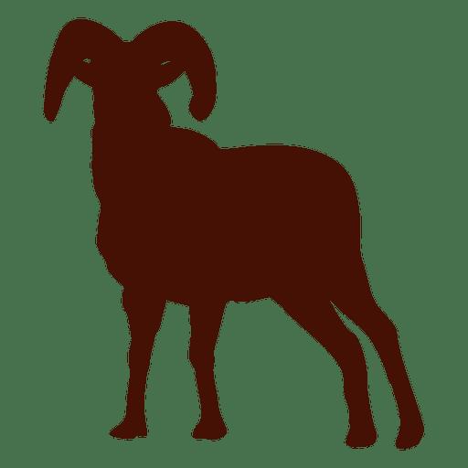 Silueta de cabra