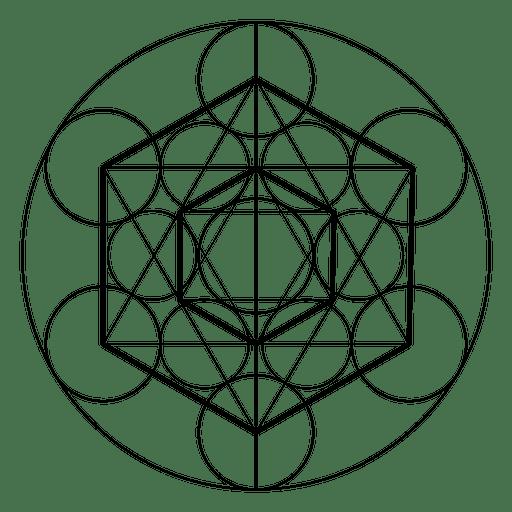 Hexagon heilige Geometrie Transparent PNG