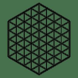 Geometría sagrada de rejilla hexagonal