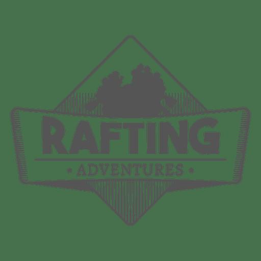 Insignia de aventuras de rafting Transparent PNG
