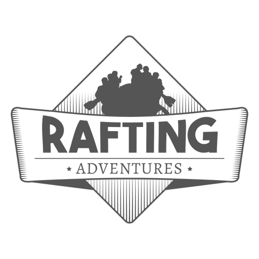 Insignia de aventuras de rafting