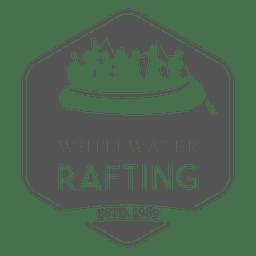 Etiqueta de rafting familiar