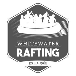 Hipster rafting label badge