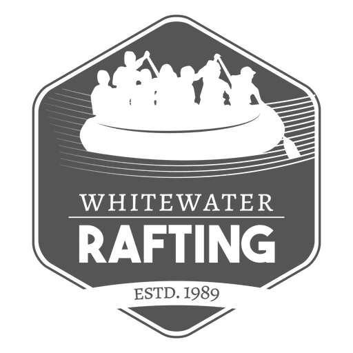 Family Rafting Label Transparent PNG