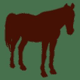Silhueta de fazenda de cavalo