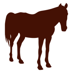 Silueta de la granja de caballos