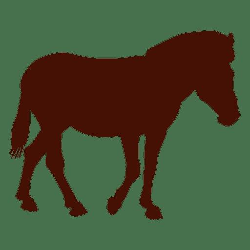 Horse standing farm silhouette Transparent PNG