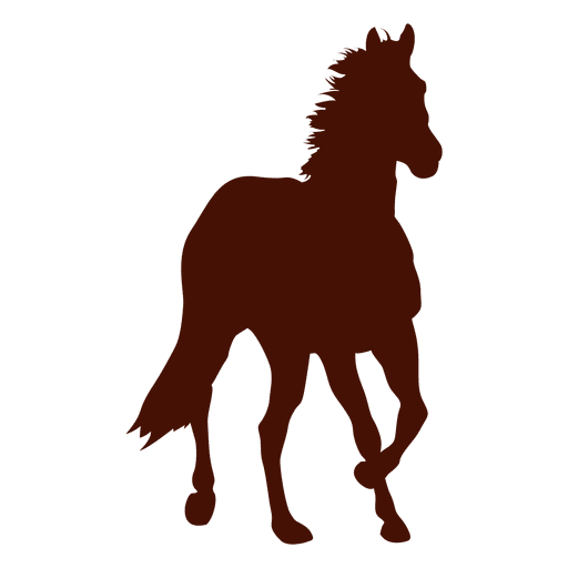 Front horse farm running silhouette Transparent PNG