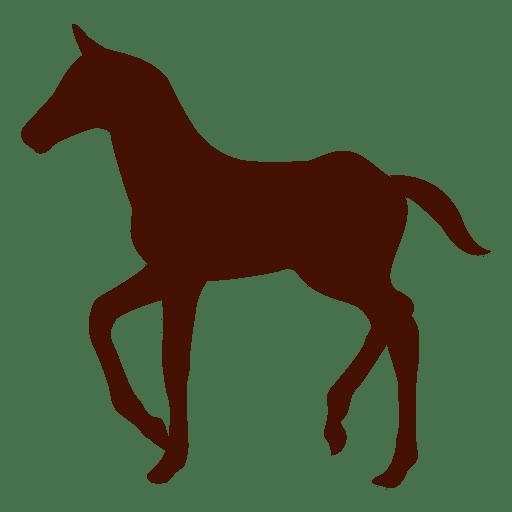Silueta de granja de caballos pequeños Transparent PNG