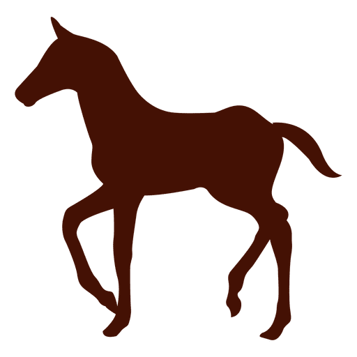 Small horse farm silhouette Transparent PNG