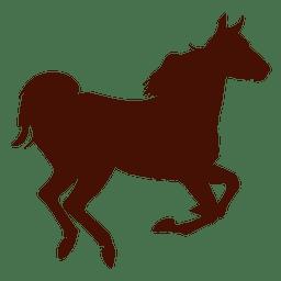 Granja de caballos corriendo silueta