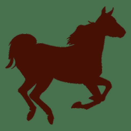 Granja de caballos corriendo silueta Transparent PNG