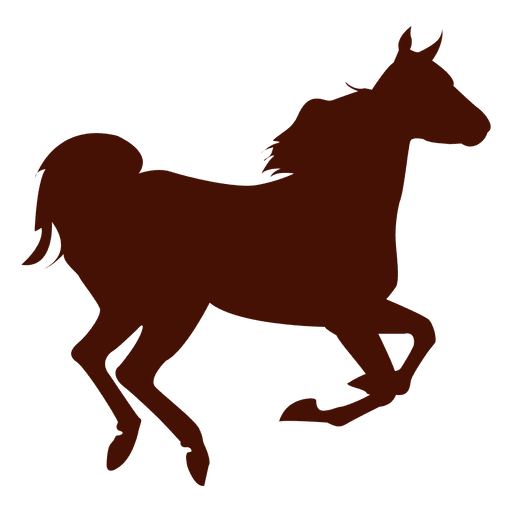 Horse farm running silhouette Transparent PNG