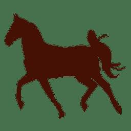 Silhueta de trote de fazenda cavalo
