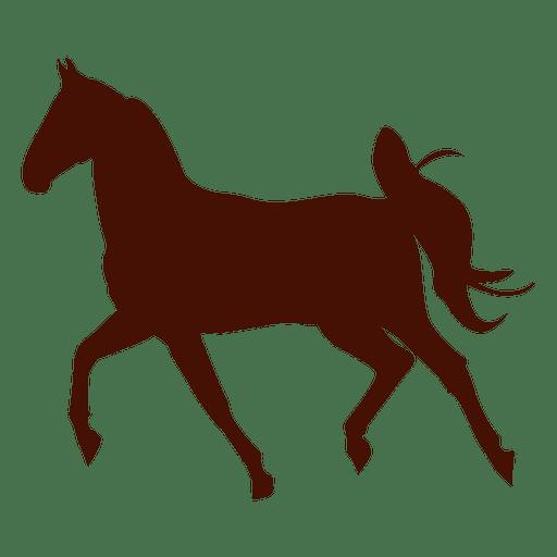 Horse farm trot silhouette Transparent PNG