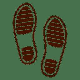 Fußabdruck menschlicher Schuhe
