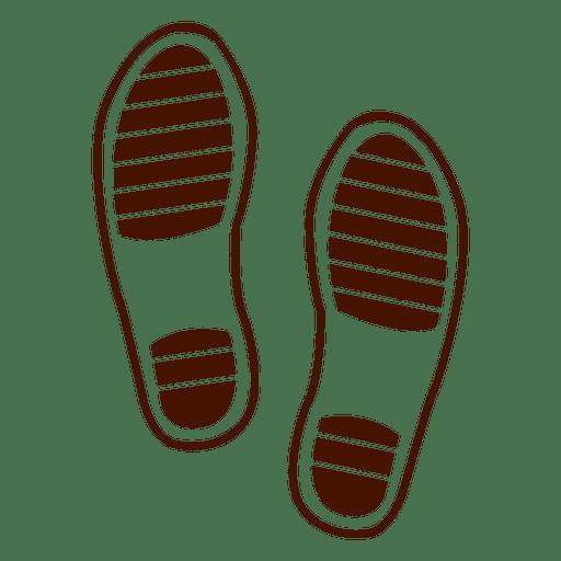 Human shoes footprint Transparent PNG