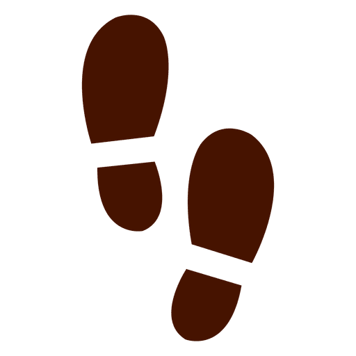 Human shoes footprints silhouette Transparent PNG