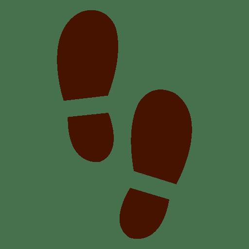 Zapatos humanos huellas silueta Transparent PNG