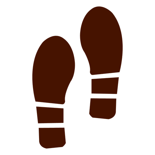 Formal shoes footprints silhouette Transparent PNG