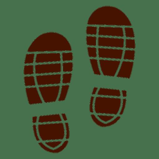 Human trainers footprints Transparent PNG