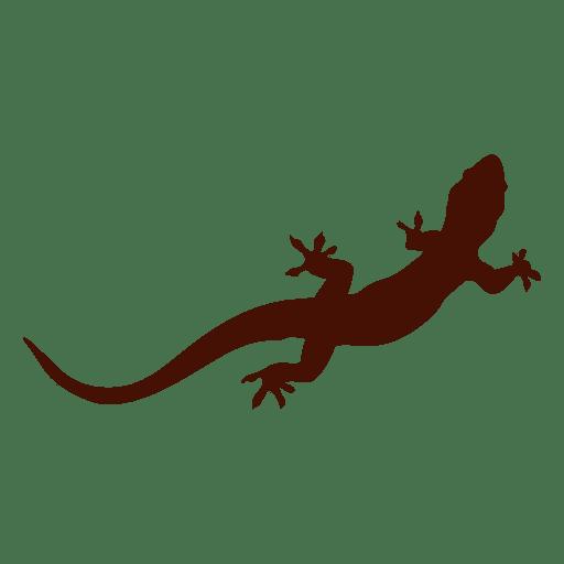 Silueta de mascota iguana