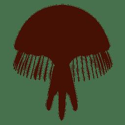 Silueta de medusas de mar