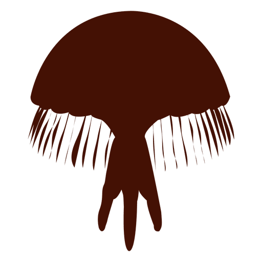 Silueta de medusas de mar Transparent PNG