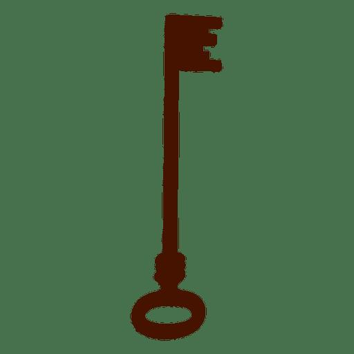 Key silhouette antique long Transparent PNG