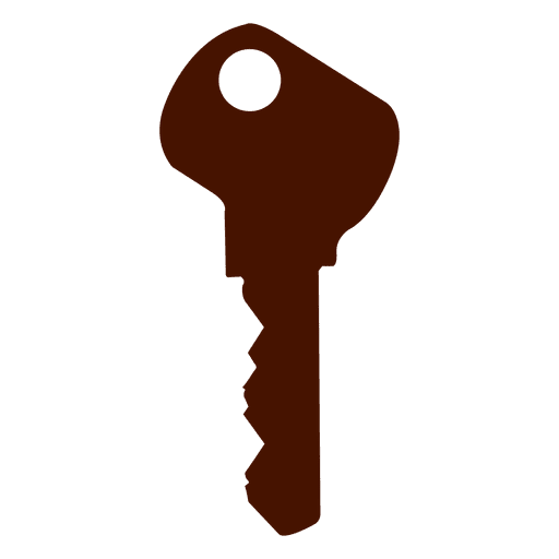 key silhouette modern transparent png svg vector