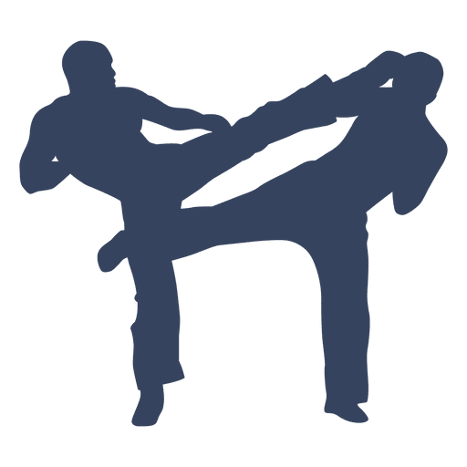 Kickboxing boxing fight silhouette
