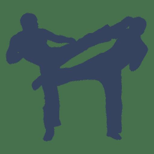 Silhueta de luta de boxe de kickboxing Transparent PNG