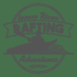 Etiqueta rafting insignia inconformista