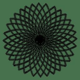 Diseño geométrico de flor de loto