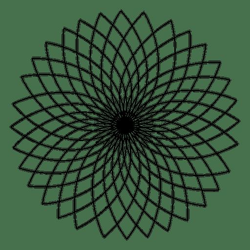Diseño Geométrico De La Flor De Loto Descargar Pngsvg Transparente