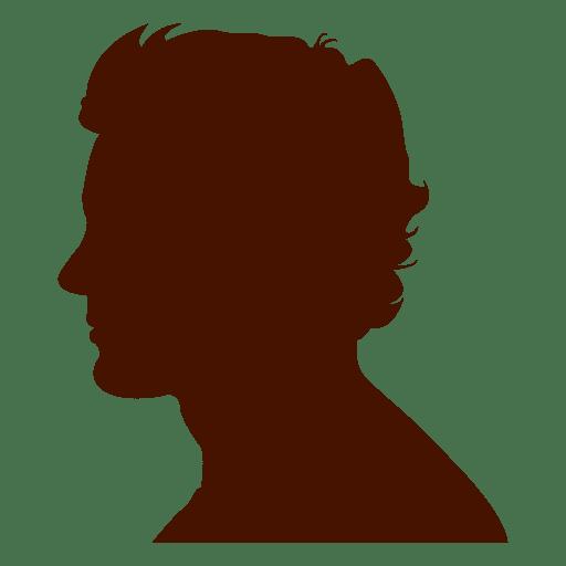Silueta de perfil de hombre