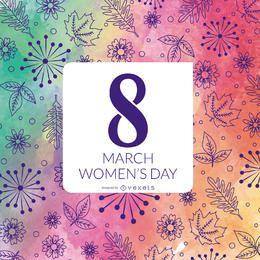 Projeto floral do dia das mulheres da aguarela