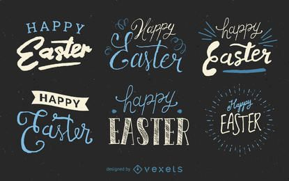 Handwritten Easter label set